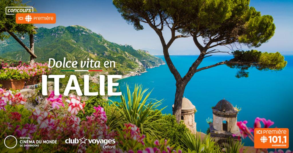 Concours Radio-Canada – Dolce vita en Italie